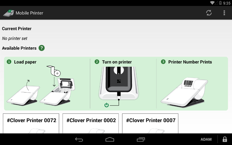 Mobile Printer App Screenshot